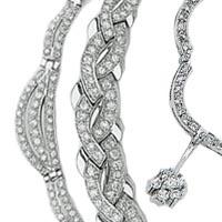 14k Italian Exclusive Set Cubic Zirconia Necklaces