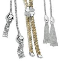 14k Italian Exclusive Neck Tie Necklaces