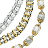 14k Crystal Cut Bead Reversible Necklaces