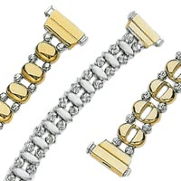14k Crystal Cut Bead Reversible Bracelets