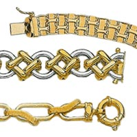 14k Italian Fancy Hollow Bracelets