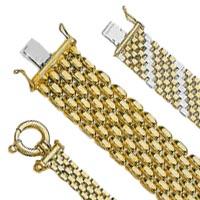 14k Italian Panther Style Bracelets