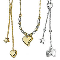 14k Heart Necklaces