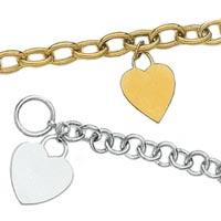 14k Heart Tag Bracelets