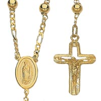 14k Rosary Necklaces