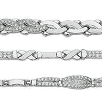 14k Imported Cubic Zirconia Set Bracelets