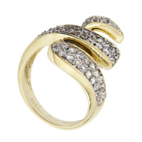 Two Tone Gold Cubic Zirconia Rings