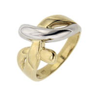 Two Tone Gold Women's Rings