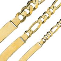 14k Italian Figaro ID Bracelets