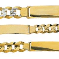 14k Italian Curb ID Bracelets