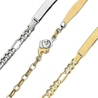 14k Italian Baby ID Bracelets