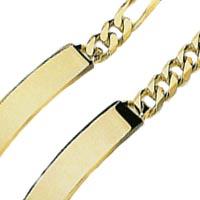 14k Hand Made Link ID Bracelets
