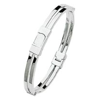 Men's White Gold Bangle Bracelets