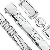 Men's Fancy White Gold Bracelets