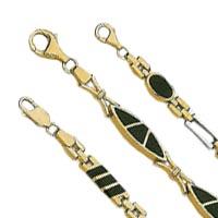 14k Onyx Bracelets