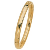 14k Italian High Polished Bangle Bracelets
