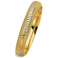 14k Fancy Italian Bangle Bracelets