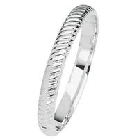 14k Fancy Italian White Gold Bangle Bracelets