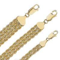 14k Multiple Rope Bracelets