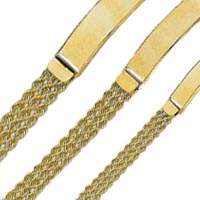 14k Multiple Rope ID Bracelets