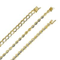 14k Diamond Cut Bracelets