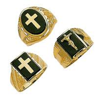 Cross Onyx Rings