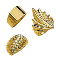 14k High Polished Gold Rings
