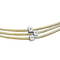 Italian Multi Line Omega Necklaces