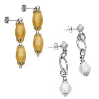 14k Italian New Deco Collection Earrings