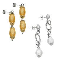 14k Italian New Deco Collection Earrings