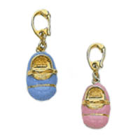 14k Baby Shoe Charms