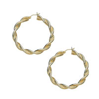 14k Swirl Tube Hoop Earrings