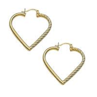 14k Heart Shaped Fancy Tube Hoop Earrings