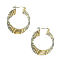 14k Concentric Hoops Tube Earrings