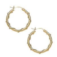 14k Wired Tube Hoop Earrings