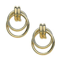 14k Fancy Tube Multiple Hoop Earrings