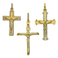 14k Italian Crucifix Crosses
