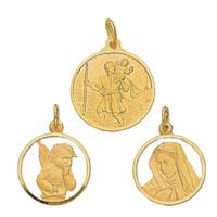 14k Italian Religious Medallions