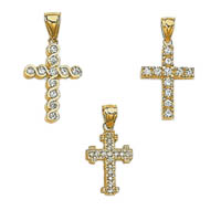 14k Cubic Zirconia Crosses