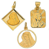 14k Italian Virgin Mary Medallions