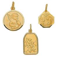 14k Italian Angel Medallions