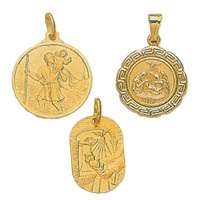 14k Italian Assorted Christian Medallions