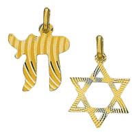 14k Jewish Religious Pendants