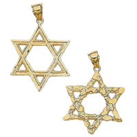 14k Star of David Pendants