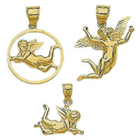 14k Angel Charms