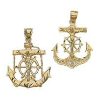 14k Anchor Crucifix Crosses