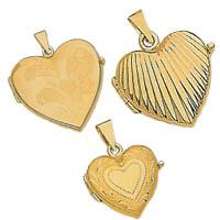 14k Italian Fancy Heart Lockets