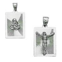 14k White Gold Italian Religious Medallions